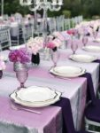 Purple Wedding tables cape