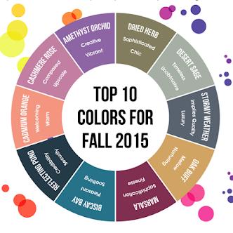 Pantone 2015 Top Fall Colors