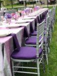 purple wedding celebration tables csape