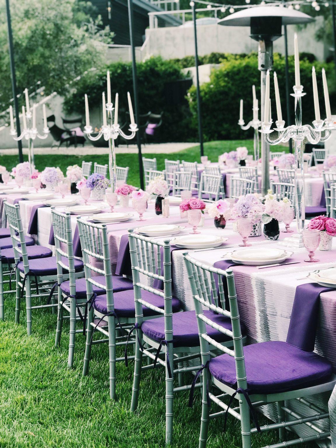 purple tables cape wedding table purple wedding