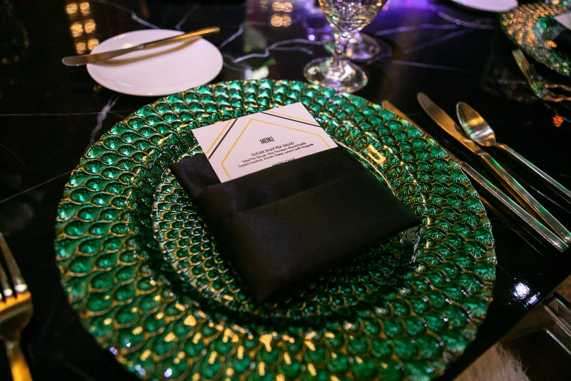 place setting emerald place setting roaring twenties gatsby inspired
